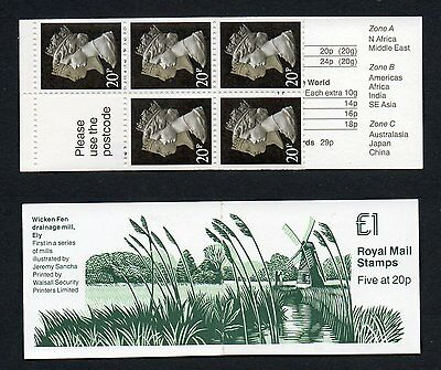 GB 1990 £1 folded booklet SGFH19  , pane 1476L mint stamps