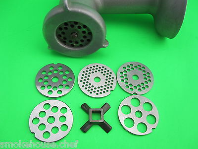 FIVE New S/S  Grinding Plates Disc for Kitchenaid Vintage Metal Mixer Grinder