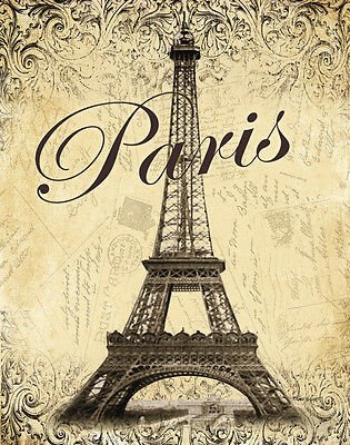 Paris Art Poster Print by Todd Williams, 11x14
