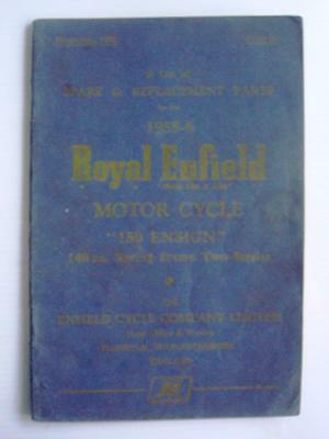 ROYAL ENFIELD 150 ENSIGN - Motorcycle Spares List - 1955-1956 - #M-1155