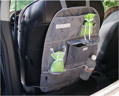 Car Back Seat Tidy Organizer Auto Travel Multi-Pocket Storage Bag Holder gray