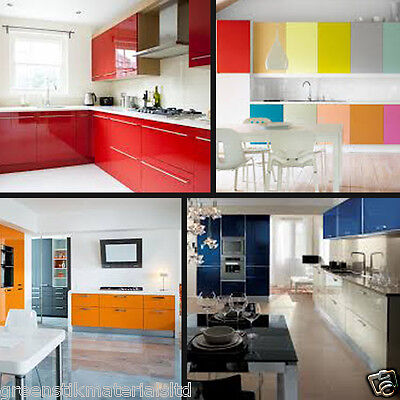 "610 x 5 M - 24"" Gloss Self Adhesive Kitchen Cupboard Door Drawer Wardrobe Cover"