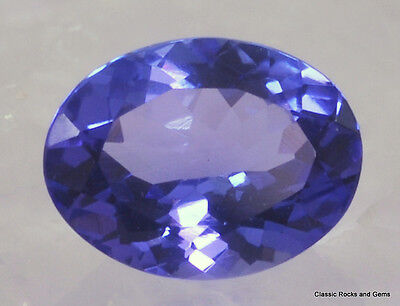 Top Natural Tanzanite Oval faceted Gemstone AAA Tansanit Edelstein 1.26 ct  Z