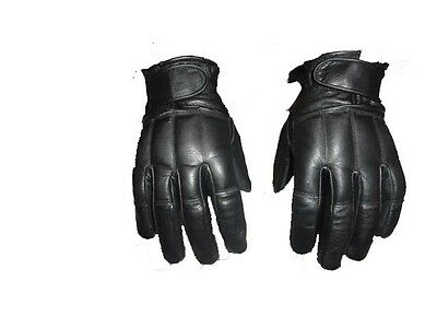 Robust Quality Leather  with Lead Shots Gloves – Protection Police Defend