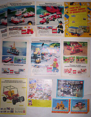 Lot Publicites Annees 70 - 80 Special Lego N°2