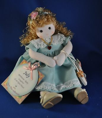 "GREEN TREE Music Box Musical Doll ""You Are My Sunshine"" 980-57 Month of JULY"
