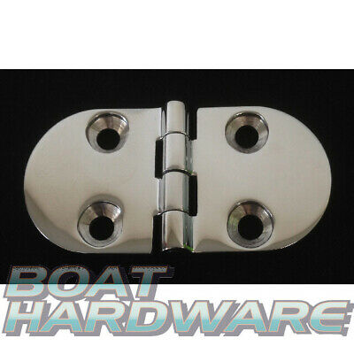 DOOR HINGE Top Mount Boat Deck Hatch Lid 316 Marine Stainless Steel 78x40mm