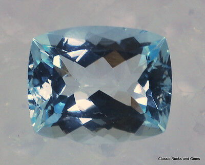 Faceted Aquamarine Gemstone  Aquamarin Edelstein Aquamarina 3.40 ct