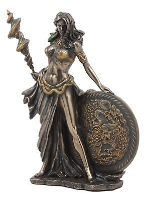 Wife of Odin Norse Goddess Frigga Figurine Faux Bronze Resin Statue Viking Pagan