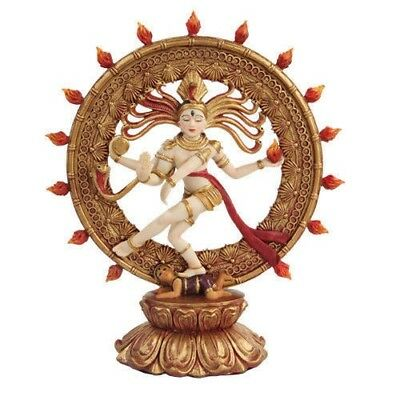 Hindhu Shiva Nataraja the Destroyer of Universe Figurine Resin Statue Dancing