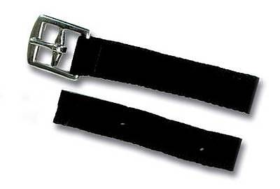"""Synthetic Stirrup Leathers Childs/Adults 48""""/54""""Length x1"""" Wide, Black Webbing"""