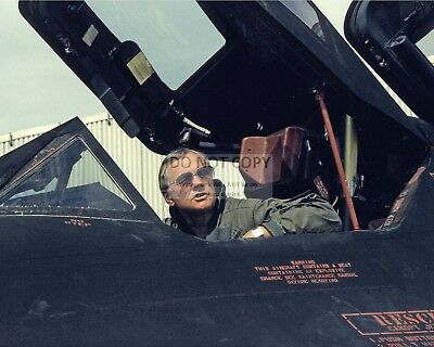 NEIL ARMSTRONG IN THE COCKPIT OF SR-71 AIRCRAFT - 8X10 NASA PHOTO (AA-497)