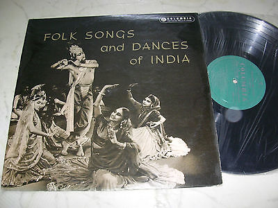 Folk Songs And Dances Of India Lp 1958