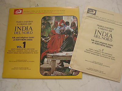 INDIA DEL NORD Vol.1 Folk and Religious Music of Northern India + Booklet *NM*