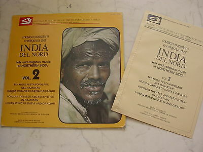 INDIA DEL NORD Vol.2 Folk and Religious Music of Northern India + Booklet *NM*