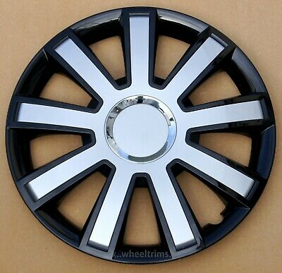 "Brand new black/silver 16"" wheel trims hubcaps to fit  Vw Transp.T5"