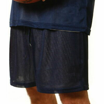 Plain Adults Mens Basketball Tricot Lining Sport Shorts | Cooldry Polyester Mesh
