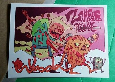 Zombie Time Swords Walking Monsters The Dead Cartoon Sticker
