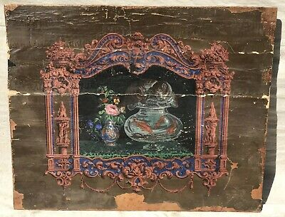 Early 19Th Century Federal Period Decorated Fire Board Fire Place Cover-