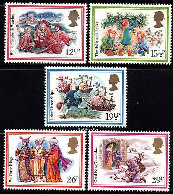 GB 1982 Christmas Complete Set SG1202 - 1206 Unmounted Mint