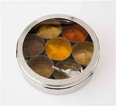 Indian Spice Tin Box Masala Dabba - Spices Box Storage - Great Quality,
