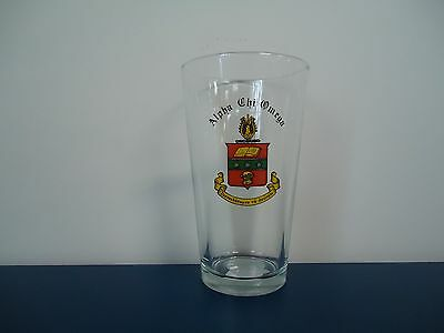 Alpha Chi Omega Pint Ale Crest Glass