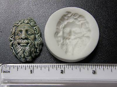 Zeus Polymer Clay Push Mold Face (#MD1106)