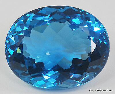 XLBlue Topaz Faceted Gemstone Blauer Topas Facettierter Edelstein Topazio 107ct