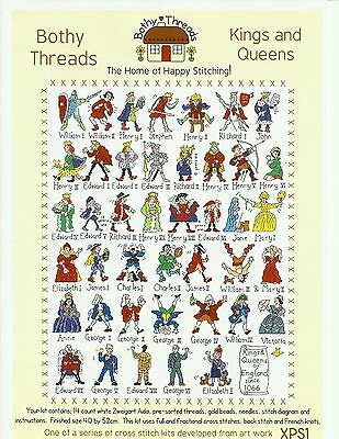 BOTHY THREADS KINGS AND QUEENS COUNTED CROSS STITCH KIT 40x52cm - NEW