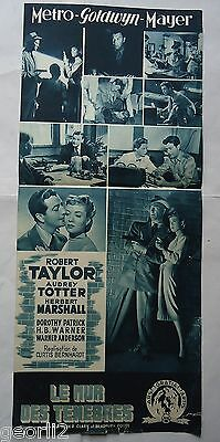 FILM NOIR/ HIGH WALL/ROBERT TAYLOR/french  pressbook