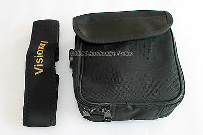 Soft binocular case + Visionary NE-1 comfort strap for 32mm and 42mm binoculars