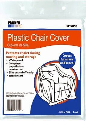 """Schwarz 8 Pack, 46"""" x 76"""", Packer One Plastic Chair Covers"""