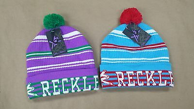 Young And Reckless Pom Pom Beanie Hats Osfa Beautiful