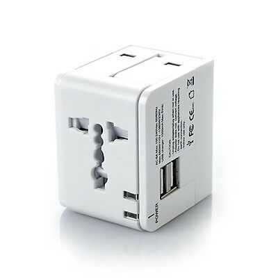 2 Port USB Universal Travel Adapter Plug Converter Wall Charger Accessories kit