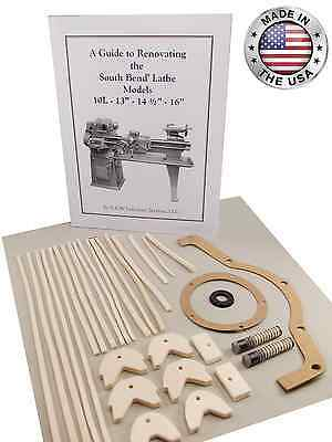 "New! Rebuild Book & Parts Kit for 16"" South Bend Lathe"