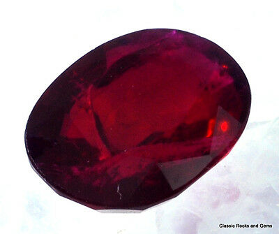 Natural  Ruby Faceted Gemstone Mozambique Rubin Facett. Edelstein Rubino 2.02 ct