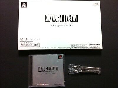 FINAL FANTASY VII INTERNATIONAL Advent Pieces: Limited Box PlayStation PS VGC