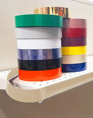 Decorative Gondola Shelving Vinyl Inserts ALMOND 130 ft x 1.25 in