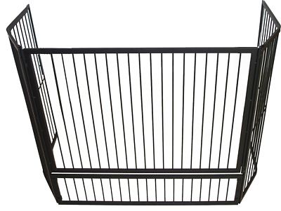 FPA016  125x30cm; Child Guard w Rods; Black