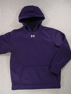 Under Armour CLASSIC SOLID Midweight Hoodie Sweatshirt (Youth Large) Blue