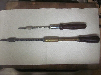 2 Yankee Spiral Screwdrivers 1 North Brothers  No. 130A & 1 Kline  NO. 64025