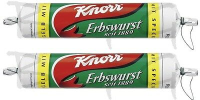 KNORR Germany - 2 x Pea soup ( Erbswurst ) YELLOW  - 3 Liter - SHIPPING FREE