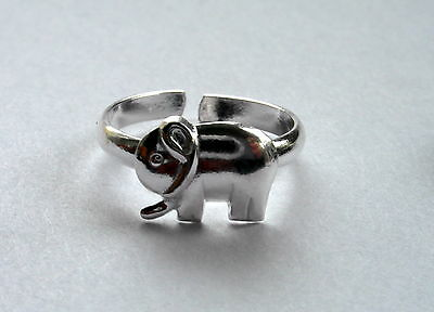 Sterling Silver (925) Adjustable   Elephant Toe Ring   !!    Brand  New !!