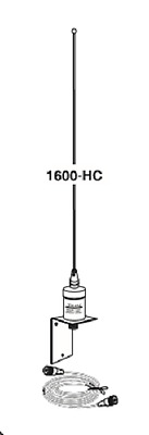 1600HC Marine Antenna 6 dBd SO239 base with RG58 coax cable UHF/PL259 connectors