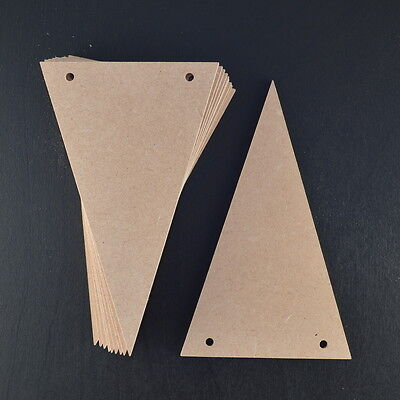 Wooden Mdf Bunting Flags Various Sizes X 10