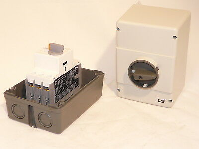 New Cerus Franklin Enclosed Manual Motor Starter CIE-MMS-32H-.25 0.16-0.25 amps