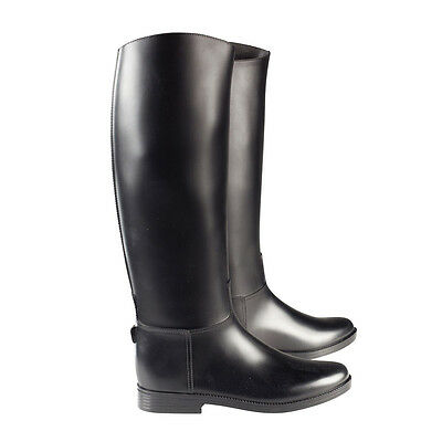 Horze chester horse riding tall boots black rubber - Childs & Adult sizes