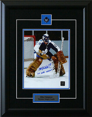 Mike Palmateer Toronto Maple Leafs Signed Framed 8 x 10 Photo