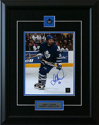"Darcy Tucker Toronto Maple Leafs Signed Framed 8x10"" Photo"