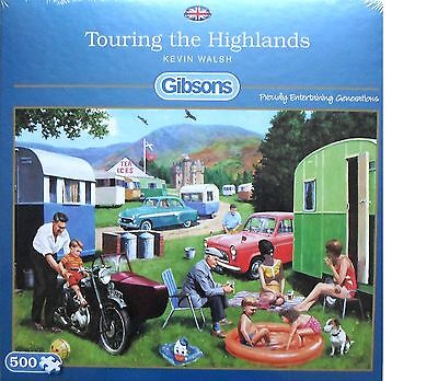 Gibsons Touring The Highlands 500 Piece Jigsaw Puzzle Scottish Caravan Hol - New